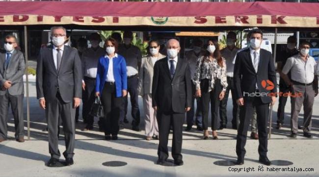 Serik'te Gaziler Günü töreni