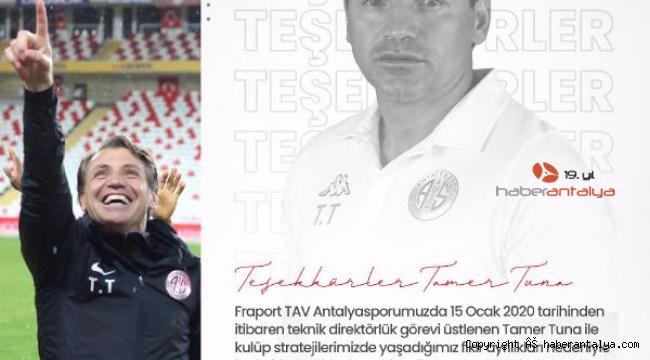 Fraport TAV Antalyaspor, Tamer Tuna depremi !