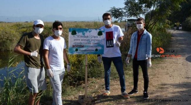 Gönüllü gençlerden temizlik kampanyası