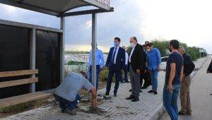 Gülseren'in ölümüne neden olan durağın ayaklarına beton döküldü !
