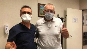 Rus hasta, hastaneden zafer işareti yaparak ayrıldı