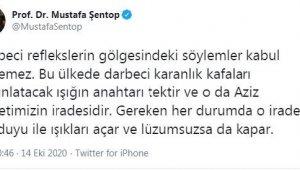 TBMM Başkanı Şentop: Darbeci reflekslerin gölgesindeki söylemler kabul edilemez