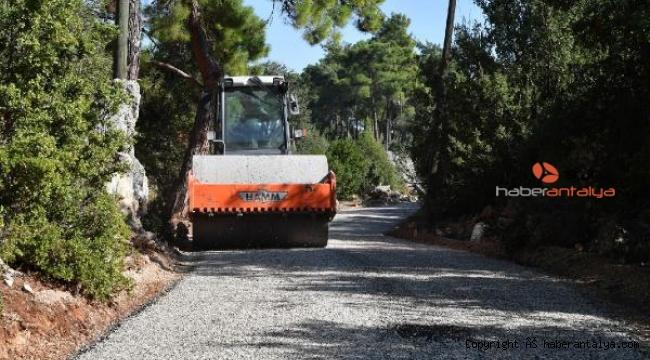 Konyaaltı Belediyesi'nden kırsala asfalt