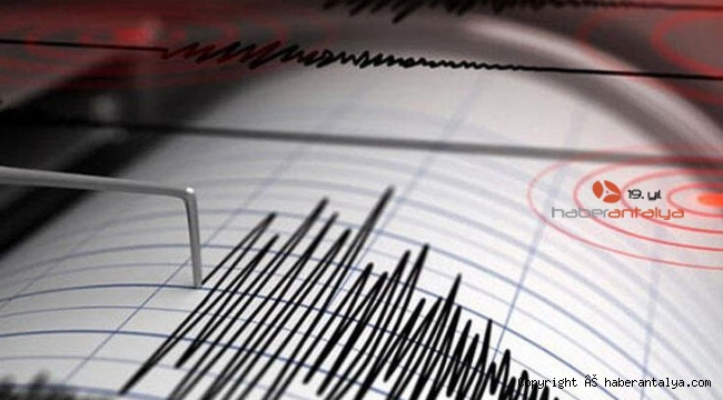 Antalya'da deprem. Şiddetli şekilde hissedildi !