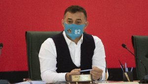 Başkandan 82 rakamlı maskeyle il olma masajı