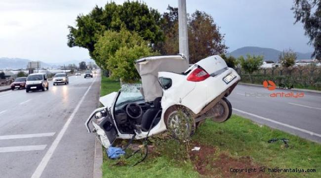İşe giderken geçirdiği kazada öldü