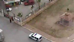 Polisi gören çocuklar nereye kaçacağını şaşırdı