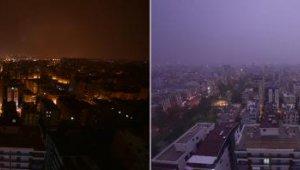 Şimşeklerin geceyi aydınlattığı Antalya'da vatandaşlar, güne kara bulutlarla uyandı