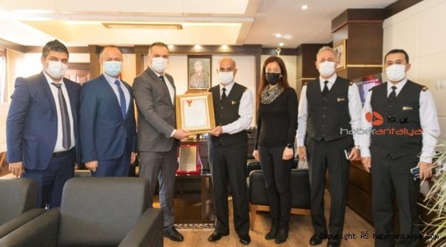 Antalya İl Jandarma Komutanlığı'na anlamlı ödül