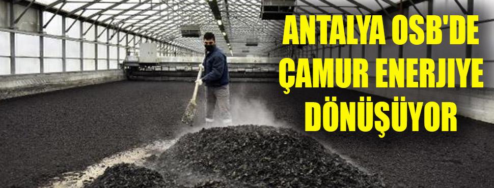 Antalya OSB'de çamur enerjiye dönüşüyor