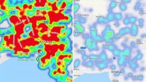 Antalya risk haritası maviye döndü !
