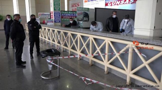Antalya terminalinde gizemli ceset !