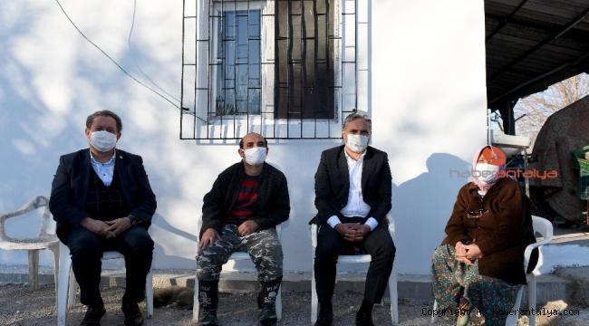 Mağdur aileye Muratpaşa Belediyesi'nden destek