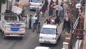 Sokakta eğlence yapanlar, polis sirenini duyunca ne yapacaklarını şaşırdı
