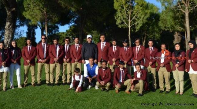 Afgan golfçüler Türkiye'de turnuvaya katılıp, eğitim aldı