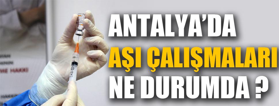 Antalya'da aşılama çalışmaları ne durumda ?