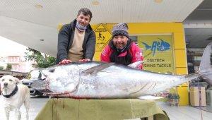 Antalya'da balıkçının oltasına 85 kiloluk orkinos takıldı !
