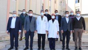 Atay Uslu, Kumluca Hastanesi inşaatını inceledi