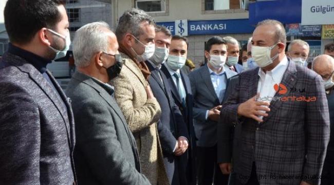 Bakan Çavuşoğlu Serik'te