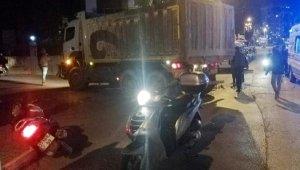 Kamyonun çarptığı motosiklet sürücüsü ağır yaralı