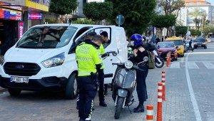 Alanya'da polisten trafik denetimi