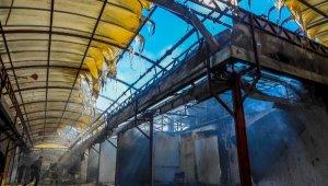 Antalya Festival Çarşısı'nda korkutan yangın - Yeniden
