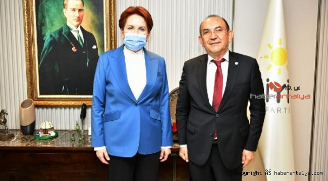 Başaran'dan Meral Akşener'e ziyaret