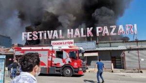 Flaş! Antalya Festival Çarşısı'nda yangın !