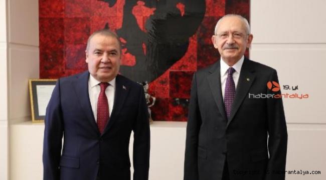 Başkan Böcek, Kılıçdaroğlu'nu ziyaret etti