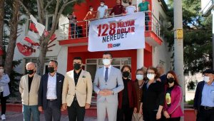 CHP'li başkanla polis arasında pankart tartışması