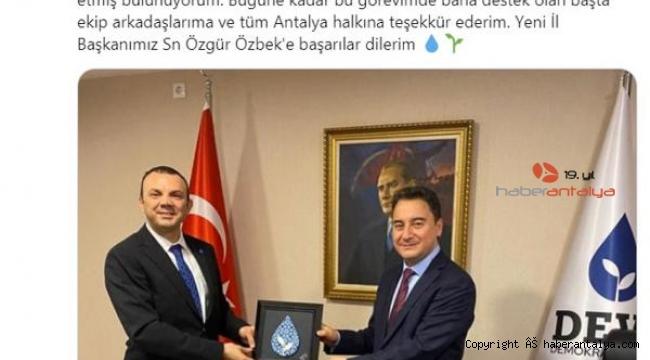 İl Başkanı Akıncı görevinden istifa etti, yeni başkan Özbek oldu !