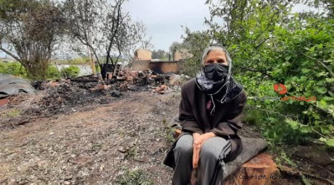 Kızını ziyaretteyken, evi yandı !