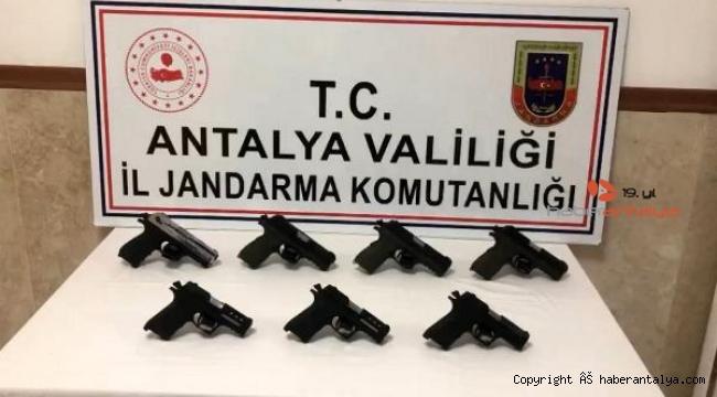 Antalya'da silah kaçakçılığı operasyonu !