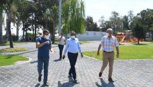 Başkan Topaloğlu, Mustafa Ertuğrul Aker Parkı'nı incelemesi