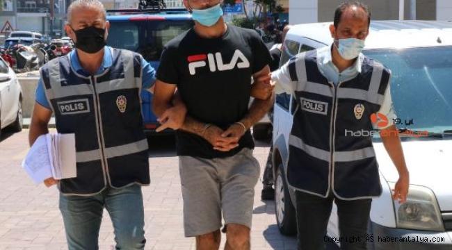 Alanya'da hırsızlık şüphelisi yakayı ele verdi
