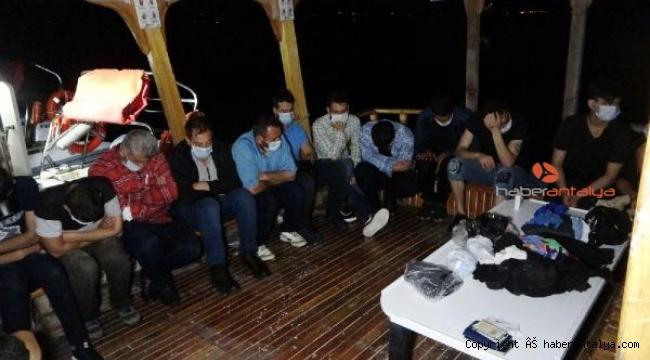 Antalya'dan Kıbrıs'a geçmeye çalışan kaçaklar yakalandı !