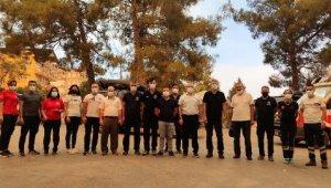 Manavgat'ta 112 ve UMKE mobil komuta merkezi kuruldu