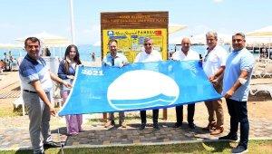 Mustafa Ertuğrul Aker Parkı plajına mavi bayrak