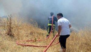 Serik'te maki yangını. Dönümlerce arazi kül oldu !