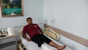 Azerbaycanlı itfaiye erinin kırılan bacağı ameliyat edildi