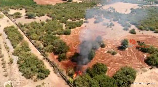 Döşemealtı'da aynı bölgede 2 günde 4 yangın !
