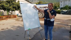Kemer Belediyesi personeline yangın eğitimi