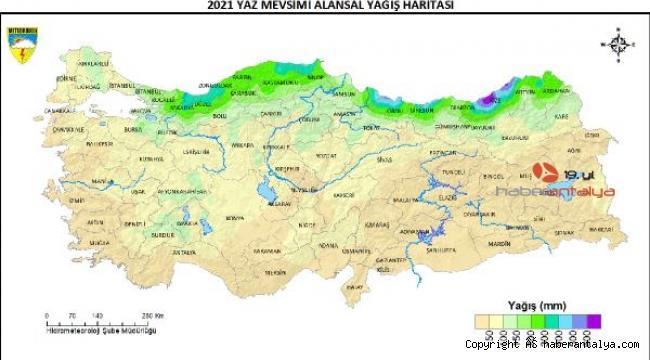 İşte Ağustos ayı yağış haritası