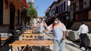 Kaleiçi'de festival dezenfektasyonu