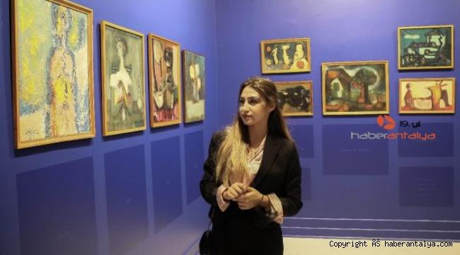 Şair ressamlar sergisi AKS'de açıldı