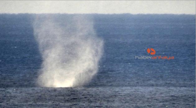 Alanya'da denizde hortum oluştu