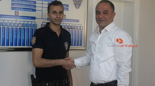 ALANYA'DA YILIN POLİSİ ALTINLA ÖDÜLLENDİRİLDİ