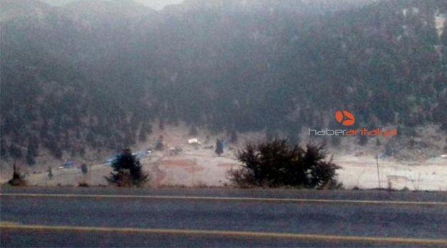Antalya- Konya yolunda dolu yağışı etkili oldu- Hava Durumu