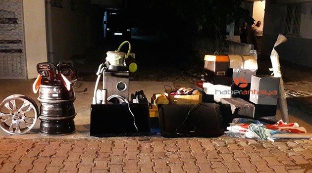 Antalya'da nakliyeci adıyla hırsızlık