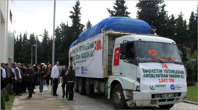 Antalya'dan Suriye'deki çocuklara yardım